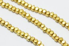 100pcs Brass Beads in Gold 3.5mm Wrap Bracelet by SuppliesDirect