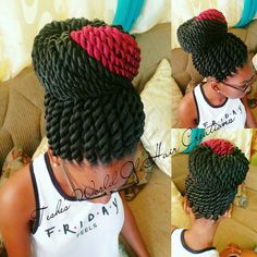 Two strand rope twist with a touch of red.....