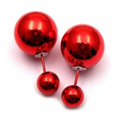 Double Sided Earrings Red Mirror Finish Double Sided Earrings  $9.00 for 1 pair  $8.00 each for 2-3 pairs  $7.00 each for 4-5 pairs  $6.00 each for 6+ pairs Jewelry Earrings