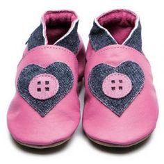 Inch Blue Esme Rose Pink & Denim Soft Leather Shoes
