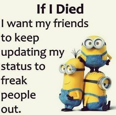 Funny Minion Quotes 008 27 Funny Pics That'll Inject Some Happy Into Your Life Minion Quotes & Memes 30 Hilarious Minions Jokes Top 30 Very Funny Texts 50 Hilariously Funny Minion Quotes With Attitude… Funny Signs That'll Fill Your Mout. Funny Minion Pictures, Funny Minion Memes, Crazy Funny Memes, Really Funny Memes, Minions Quotes, Funny Puns, Funny Relatable Memes, Haha Funny, Funny Texts