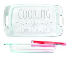 Baking Dish - Cooking is love made visible