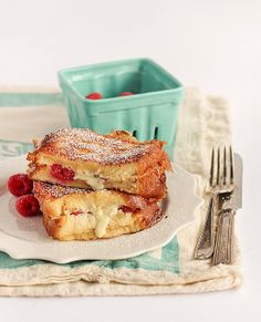 *White Chocolate & Raspberry Brioche French Toast