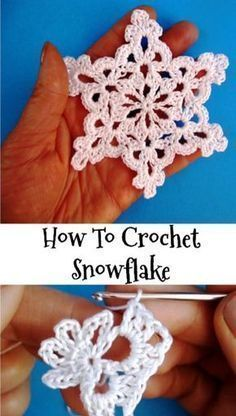 Free video pattern crochet snowflake Снежинка крючком видео урок
