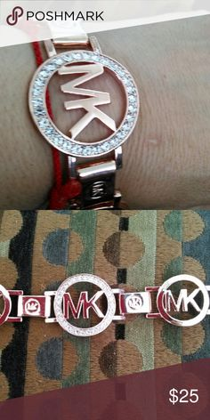 "FASHIONABLE BRACELET WITH ""MK"" Logo Rose Gold Plated bracelet with beautiful RHINESTONES around. Jewelry Bracelets"