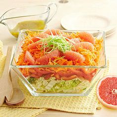 A lime-tequila dressing perks up this light and refreshing cabbage, carrot and bell pepper coleslaw. Grapefruit segments add an extra citrus kick.