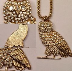 "MEDIUM 1.5"" GOLD PLATED OWL PENDANT WIT 26"" CHAIN! DRIZZY DRAKE OVOXO OVO TOPSZN #Pendant"