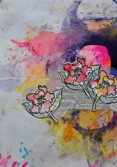 Great #artjournal advice! Dina's 4 Ways to Loosen Up Your Brushstrokes | ClothPaperScissors.com #painting #mixedmedia