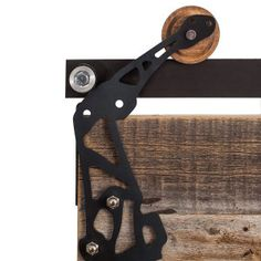 Our Sawmill Rustic Barn Door Hardware Kit adds character through its solid steel construction, open design, and raw aesthetic. Customize your hardware today! Reclaimed Doors, Rustic Doors, Rustic Barn, Barn Wood, Sliding Barn Door Track, Interior Sliding Barn Doors, Bypass Barn Door Hardware, Sliding Barn Door Hardware, Rustic Frames