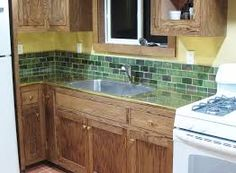 Image result for mission style stained glass mosaic backsplash tile