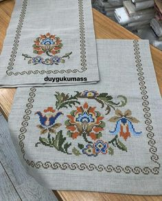 Hand Embroidery Art, Cross Stitch Embroidery, Cross Stitch Patterns, Flower Patterns, Alphabet, Flowers, Herb, Embroidered Towels, Crossstitch