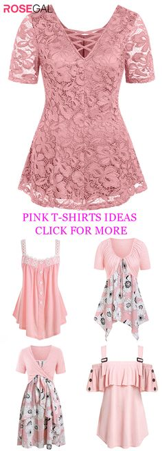 Rosegal Plus Size T-shirts women pink tops 2020 fashion outifts ideas Plus Size Crop Tops, Plus Size T Shirts, Fairy Clothes, Overalls Women, Pink Tops, Pretty Outfits, Plus Size Outfits, Fashion Dresses, Clothes For Women