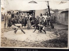 Sumo Wrestling Match by A. Davey, via Flickr  ~1914
