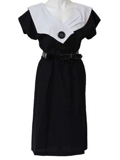 bcb9f207af This image represents 1980 s women s fashion because of the the collar  w button