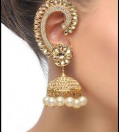 Indian Accessories, Jewelry Accessories, Jewelry Design, India Jewelry, Ethnic Jewelry, Silver Jewellery, Moda Indiana, Indian Earrings, Golden Earrings