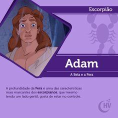 Príncipe de Escorpião. #horóscopovirtual #signos #zodíaco #escorpião #adam #abelaeafera