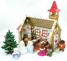 Colourful Sylvanian Families Cath Kidston Decorated Christmas/Wedding Church ++ | eBay