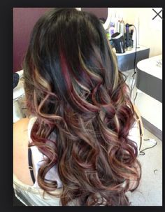 Red violet black and Carmel yes please!