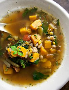 Fall Vegetable Soup with Butternut Squash