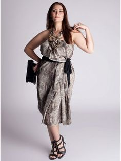The strapless variation of the python print... Loving the super hot runway look of the snake skin print.