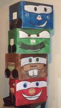 Disney Cars theme, box racing, for my son's birthday