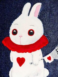 Alice In Wonderland Queen Of Hearts Rabbit Painting by KiXCeramiX, $25.00