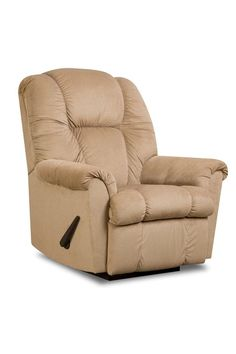 The Ruben Rocker Recliner is available with power. Upholstered in a thick suede this recliner boasts a welcoming tan fabric color. Wow Seating System! Franklin's exclusive Wow Seating System with Gel injected foam and premium springs creates the most comfortable seat in the market. Purchase the Ruben online or in-store at Great American Home Store in Memphis, TN, and Southaven, MS. #recliner #livingroom #gogahs #memphistn