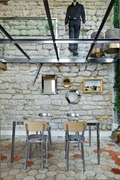 appartement atypique à Paris, terrasse à sol transparent, loft original