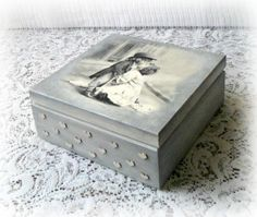 Caja de recuerdo de madera estilo vintage caja por CarmenHandCrafts