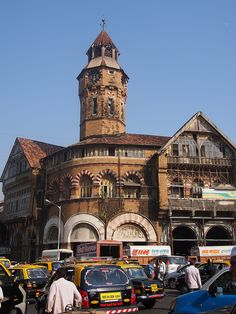 Crawford Market, Mumbai (Bombay), India - landmark market built by the British in 1869 - centrally located, houses wholesale fruit, vegetable, and poultry market vendors