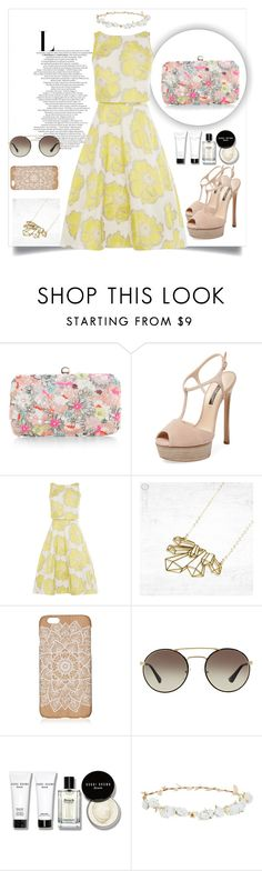 """Cuty dress"" by naomy-nona ❤ liked on Polyvore featuring Accessorize, Casadei, Prada, Bobbi Brown Cosmetics and Design Lab"