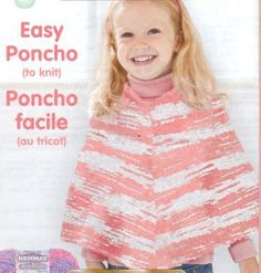 1000+ images about knit poncho on Pinterest Ponchos, Childrens poncho ...