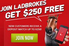 Ladbrokes Australia are one of the country's most trusted sports books. They give new customers a $250 bonus and provide a Ladbrokes card to withdraw winnings at any ATM in Australia.