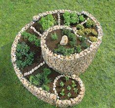 How To Build A Herb Spiral Garden! #herbgardening
