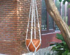 Hanging planter in Simplex series Model X by handiworkclub on Etsy