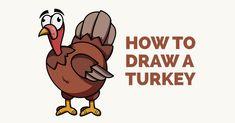 Doodle Drawings, Animal Drawings, Easy Drawings, Cartoon Drawings, Animal Illustrations, Doodle Art, Turkey Cartoon, Cartoon Sun, Popular Cartoons