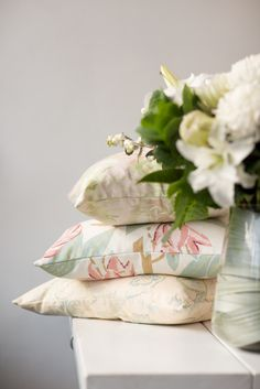 Florals and pinks on florals and pinks! DIY these gorgeous cushions and find these exact fabrics on our website http://www.marthas.co.nz/