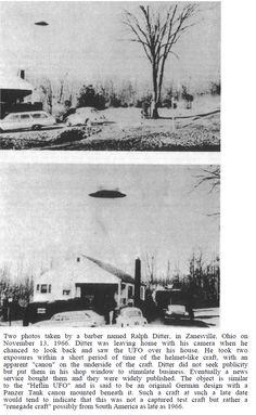 """Two photos taken by a barber named Ralph Ditter, in Zanesville, Ohio on November Paranormal, Aliens And Ufos, Ancient Aliens, Ufo Footage, Latest Ufo, Secret Space Program, British Aerospace, Unidentified Flying Object, Alien Planet"