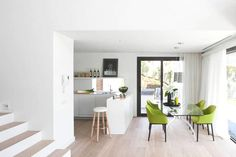 White with a pop of green http://freshome.com/