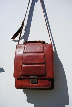 Mens leather bag, brown mens shoulder bag