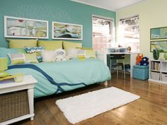 I love this room... it was designed for a girl's sea inspired bedroom... so cute!