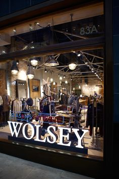 Iconic British Fashion brand Wolsey used Plumen bulbs in their new Brewer Street store in London - http://www.wolsey.com/ - @wolseyltd - Photos: Petr Krejci