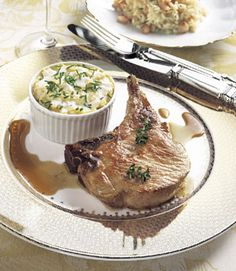 Find the recipe for Roasted Pork Chops with Serrano Ham Vinaigrette and other vinegar recipes at Epicurious.com