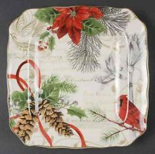 222 Fifth HOLIDAY WISHES Square Salad Plate 9090046