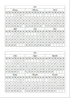 Simply Year calendar 2015 in A5 size horizontally by PrintItOn