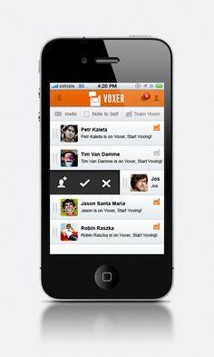 Design -1 / 1 Mobile Apps UI Design for Voxer ( proposed)