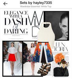 Bright skirt #polyvore #fashion #spring