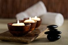 spa candles hot stones ;)