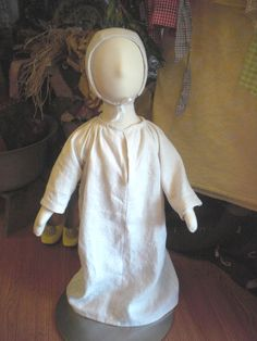 Medieval Linen Baby Shift and Cap -  3-6 Month. $34.00, via Etsy.