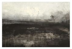 Invasion, MELODY FRENCH - abstract, contemporary, layered, abstract landscape, modern art  - sold -